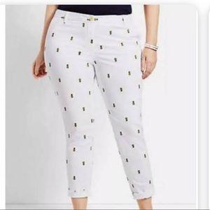 Talbots pineapple pants  🍍